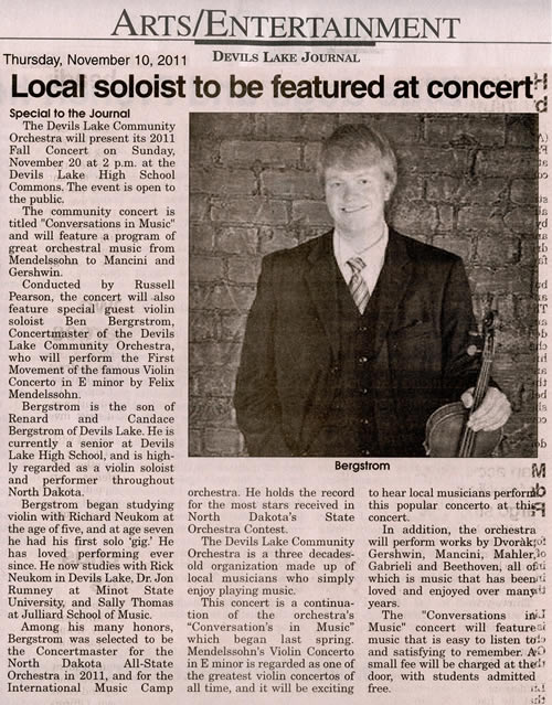 Local soloist featured at concert